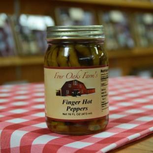 Finger Hot Peppers 16 oz