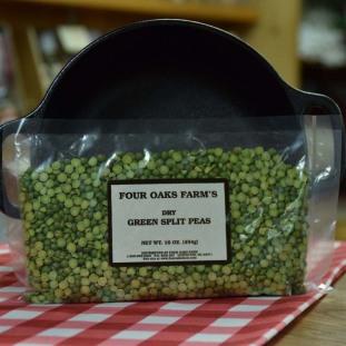 Dry Green Split Peas 16 oz bag